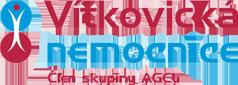 Modro červené logo Vítkovické Nemocnice
