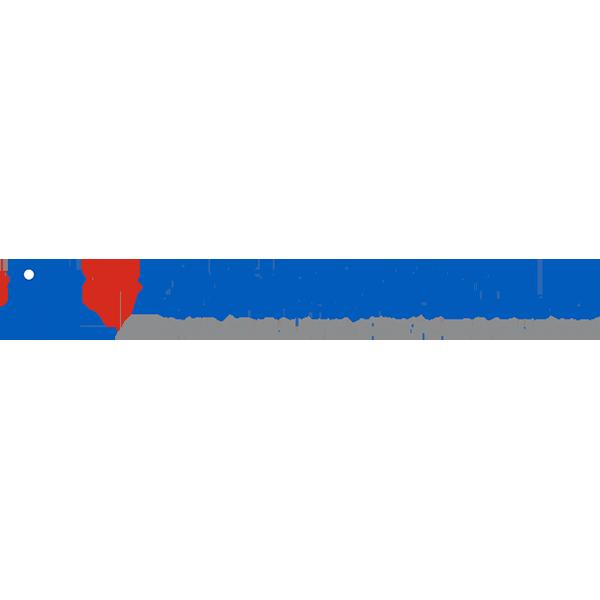 Modré logo střední zdravotnické školy v Brně