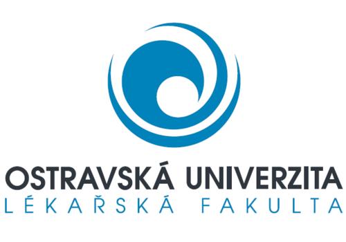 Modré logo ostravské univerzity